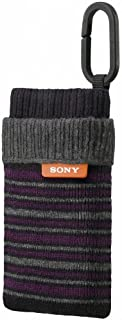 索尼袜款手机壳,广泛兼容网络拍摄/后勤/MP3 播放器 - 黑色