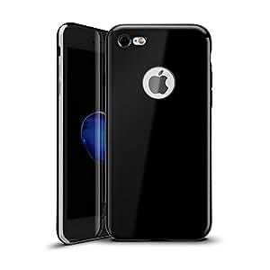 iPhone 6s 手机壳,MINIMALISM(TM) [Twinkler 系列] [防刮] 优质柔韧 TPU 缓冲硅胶手机壳带电镀框架,适用于 iPhone 6 和 iPhone 6s (4.7 英寸)TPUDD-6/6s-06 乌黑色