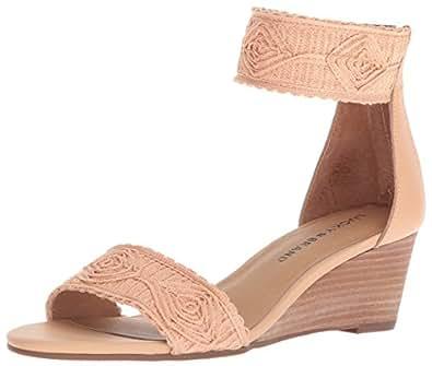 Lucky Brand 女士 Joshelle 坡跟凉鞋 琥珀色灯 7.5 M US