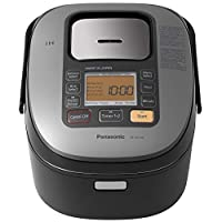 Panasonic SR-HZ106 5 杯(未煮)感应加热系统电饭煲及多锅,黑色 需配变压器