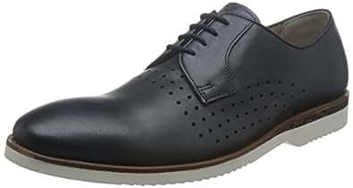 Clarks 男 商务休闲鞋 261142717055 海军蓝色皮革 39