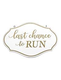 Lillian Rose SI110 LC 花童戒指 Bearer Last Chance to Run 标志,白色