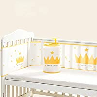 HePesTer 婴儿网眼婴儿床缓冲垫采用优质材料制成,透气婴儿床衬垫可防止宝宝的身体被卡住,可机洗,组装简单(棕色)