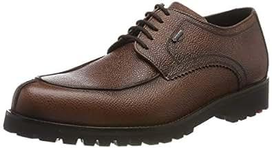 LLOYD 男鞋 VALDEZ,经典的 Gore-Tex 挪威鞋低帮皮质橡胶鞋底 Braun (Amber 2) 38 EU