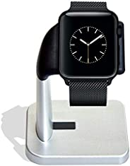 A'O Apple Watch 充电底座兼容 iWatch 充电器(不含)系列 4/系列 3、系列 2、系列 1 44mm、42mm、40 mm、38 mm。 紧凑旅行铝制支架。