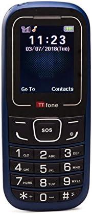TTfone TT110 SOS 应急手机 - 基本简单便宜的高级手机TT110B with USB Cable 蓝色