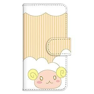 白色坚果 手机壳 翻盖 印花翻盖 智能手机壳 翻盖式 对应全部机型WN-PR175289-L Galaxy S7 edge SCV33 白色