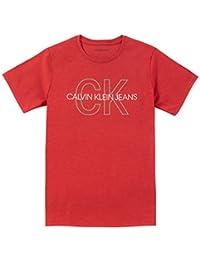Calvin Klein 男孩经典 LOGO 印花 t 恤