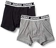 Adidas 阿迪达斯 平角内裤 前开口 2条装 男童 棉100