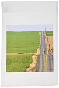 danita delimont – 爱达荷 – Country Road ,小麦 Fields , pendleton ,爱达荷 – us13 dfr0677 – David R. frazier – 旗帜 12 x 18 inch Garden Flag