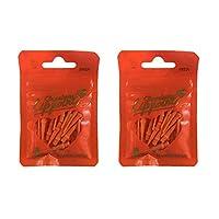 LSTYLE 高级口红 - 一包 30 支 2BA 飞镖尖 - *耐用 Orange 2-Pack