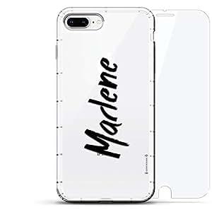 豪华设计师,3D 印花,时尚,气袋垫,360 玻璃保护膜套装手机壳 iPhone 8/7 Plus - 透明LUX-I8PLAIR360-NMMARLENE1 NAME: MARLENE, HAND-WRITTEN STYLE 透明