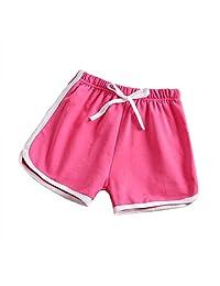 taitaibaby 女童短裤幼儿儿童跑步短裤夏季运动休闲短裤,3-10岁