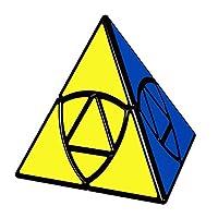 willking Duomo 立方体金字塔 3X3 拼图 Pyraminx 魔方扭曲玩具 黑色