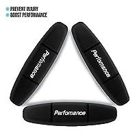 Alien Pros 高性能网球拍减震器(3 件装,黑色)- 完美网球减震器稳定您的绳子,以获得*佳性能 - 网球减震器套装(3 件装,黑色)