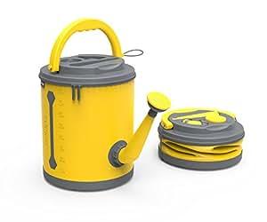 COLOURWAVE 高级可折叠浇水罐,2.4-加仑,阳光黄