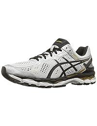 ASICS 男士 GEL-Kayano 22 跑步鞋 Silver/Black/Gold 6.5 D(M) US