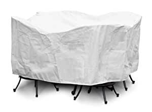 """KoverRoos DuPont Tyvek 84 in. White Large Bar Set Cover with Umbrella Hole 白色 84"""" Diameter x 40"""" H"""