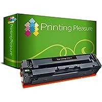 Printing Pleasure CF540X 203X 墨盒 适用于惠普 Colour Laserjet Pro M254dw M254nw MFP M280nw MFP M281fdn MFP M281fdw (黑色,高产量:3.200 页)