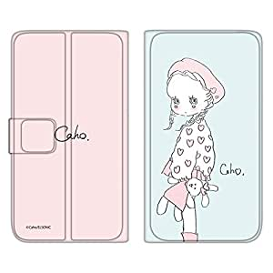 caho 保护套薄款印花翻盖毛绒玩具和小女孩手机保护壳翻盖式适用于所有机型  ぬいぐるみと少女E 5_ ARROWS Kiss F-03D