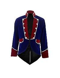 Darkrock 新款男式天鹅绒 Vladimir Tuxedo 夹克尾服哥特蒸汽朋克维多利亚时代