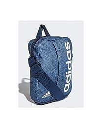 adidas 阿迪达斯 中性 小肩包 DJ1431 原青灰 S18/学院藏青蓝/白 均码
