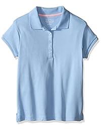 Nautica 女童制服短袖 POLO 衫 picot stitch 领