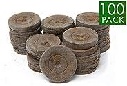 Peat Pellets 42mm 培植颗粒种子入门胶囊 适用于苗圃 (100)