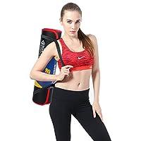 Kansoon 凯速 NBR 加宽加厚 包边瑜伽垫 环保无味 高密度红黑色家用健身瑜伽垫EA037