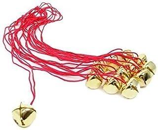 h Dazzling Toys 圣诞铃铛项链 24 件装   圣诞创意   季节性新颖金色铃铛友谊项链   儿童时尚珠宝派对礼品