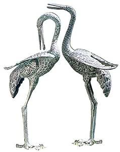 Achla Designs 预处理起石花园雕像 - 2 件套 绿色 PC-01