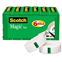 Scotch Magic Tape, 3/4 x 1000 Inches, Boxed, 6 Rolls (810K6)