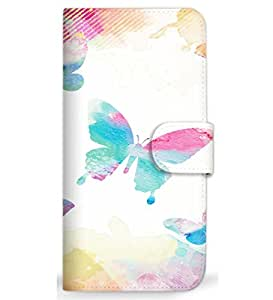 MITAS 智能手机壳翻盖式蝴蝶粉彩 A 2_Xperia M5 (E5606) Sony