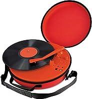Coca-Cola CCT01 复古转盘带蓝牙音箱,3 种不同的播放模式,33S,45S,78S 播放支持,内置强大的锂电池,带便携式手提箱,红色
