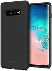 Spigen 硅胶贴合三星 Galaxy S10 手机壳 (2019) - 变体父母605CS25818 黑色