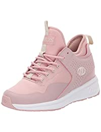 Heelys Piper Dusty Rose/White Mid-Top Fabric Fashion Sneaker - 5M