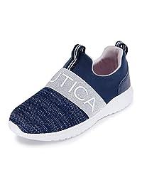 Nautica 女童时尚运动鞋跑鞋 - 小童/大童 - (系带/翻转)