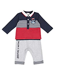 Chicco 婴儿 Completino Polo 衫 + Pantaloni Lunghi 晚装 - 套装