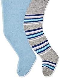 Playshoes 婴儿女孩纯色条纹带舒适裤袜(2 件)
