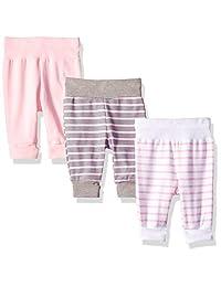 Hanes Ultimate Baby Flexy 3 件装可调节修身针织慢跑裤