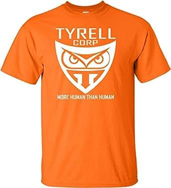 成人 Tyrell Corporation More Human Than Human 字样 T 恤 橙色 Large