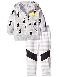Rosie Pope 男婴英雄主题拉链夹克套装