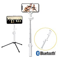 Elecom宜丽客 自拍杆 自拍杆 自拍杆 蓝牙遥控器 [360°旋转] iPhone/AndroidP-SSBTRWH  三脚付(Bluetooth) 2) 45cm 白色