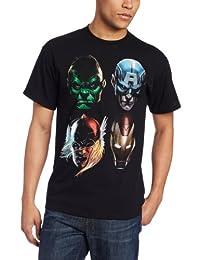 Marvel 男式 4 Marvel Faces T 恤