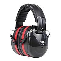 Cyber Acoustic 专业*重型耳罩,用于听力保护和降噪,改善空气交通地面支持,建筑工程,狩猎/射击范围等等 (ACS-340)