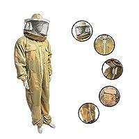 三层蜂巢通风套装和夹克,完全保护 Beekeepers Ultra 透气Bee 西装和蜜蜂夹克,带围栏面纱和圆形面纱 S 码 3XL
