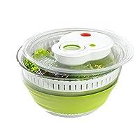 爱慕莎(emsa) 德国原装进口水果蔬菜滤水器/甩菜器/脱水器/洗菜器/甩干器 4.5L 透明/绿