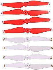 Helistar 螺旋桨 4 对 5332S 彩色快速释放刀片 兼容 DJI Mavic Air Drone CW CCW 螺旋桨(红色+白色)