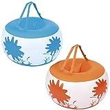 Bestway 52222 户外玩具充气 - 充气玩具(外部、蓝色、橙色、乙烯基、盒子)