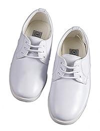 Tuxgear 男孩白色系带圆头礼服鞋 - 婚礼 - *次圣餐